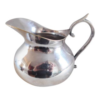 A. Boulenger French Hallmarked Silverplate Pitcher For Sale