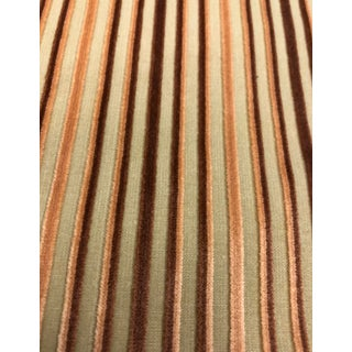 Cut Velvet Stripe Fabric For Sale