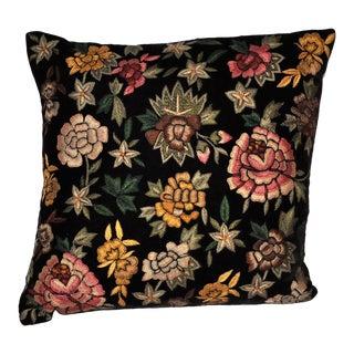 Anke Drechsel Velvet Floral Pillow in Black