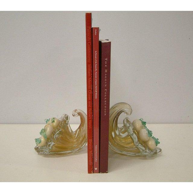 Circa 1940 Italian Murano Glass Cornucopia Bookends - A Pair For Sale - Image 5 of 6