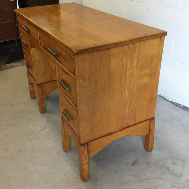 Early Heywood-Wakefield Style Desk For Sale - Image 11 of 13