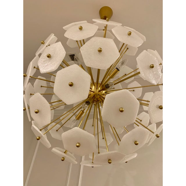 Gold Jonathan Adler Vienna Globe Chandelier Light Pendant For Sale - Image 8 of 9