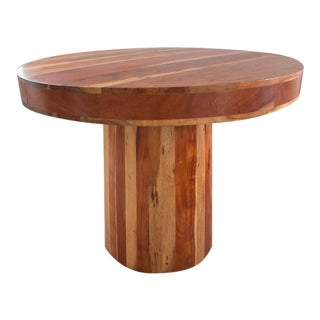 Mango Wood Pedestal Table