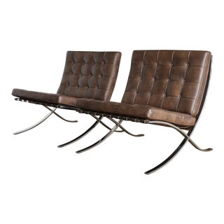 Barcelona Chairs by Ludwig Mies Van Der Rohe for Gerald R. Griffith - A Pair For Sale