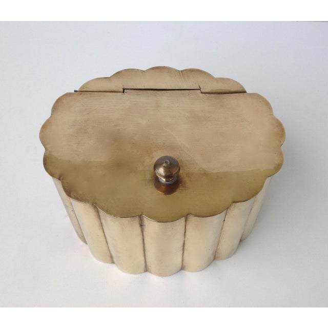 1960s Brass Moorish-Style Tea or Biscuit Container For Sale - Image 5 of 11