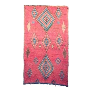 "Boujad Vintage Moroccan Rug, 4'8"" X 7'10"" For Sale"