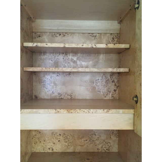 Founders Brass and Burl Storage Unit - Image 7 of 9