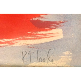 """Vintage Original Robert Cooke Abstract """"Crazy Chicken """" Painting Preview"""