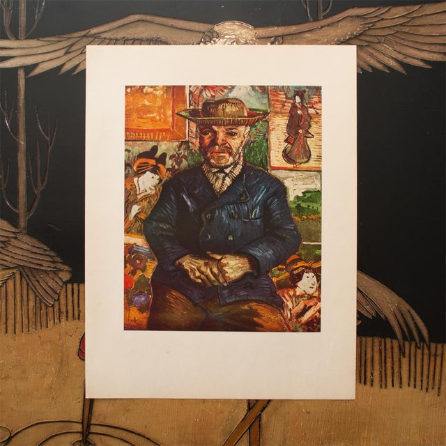 "Modern 1950s Vincent Van Gogh, ""Pere Tanguy"" First Edition Vintage Lithograph Print For Sale - Image 3 of 8"