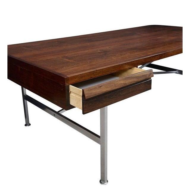 Brown Illum Wikkelsø Rosewood Desk For Sale - Image 8 of 10
