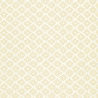 Schumacher Ziggurat Wallpaper in Alabaster For Sale