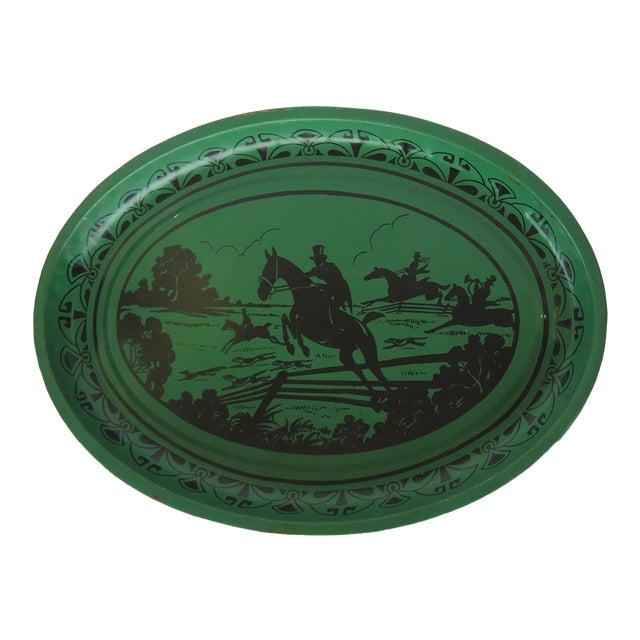 Art Deco Silhouette Equestrian Tin Tray - Image 1 of 3