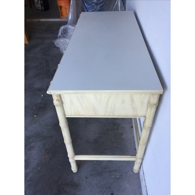 Vintage Thomasville Allegro Faux Bamboo Desk For Sale - Image 11 of 11