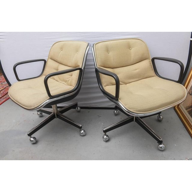 Iconic MCM office chair designed by Charles Pollock for Knoll. Chair was produced in the 1970s USA