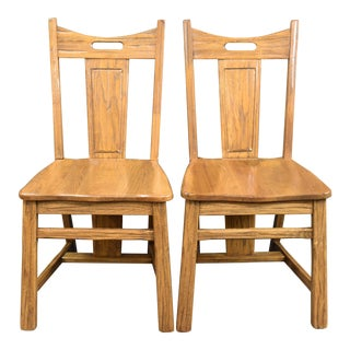 A.Brandt Ranch Oak - Cowboy Classics Style Chairs- a Pair For Sale