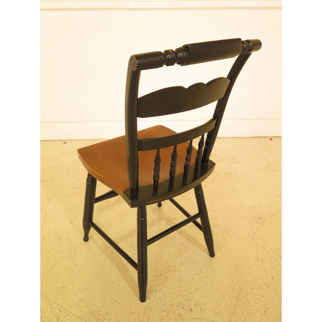 1970s Vintage Hitchcock Eagle Stenciled Maple Side Chair For Sale - Image 9 of 10