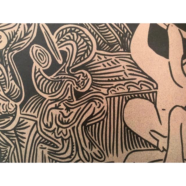 """Pablo Picasso Vintage Picasso Linocut """"Danseurs Et Musicien"""" For Sale - Image 4 of 6"""