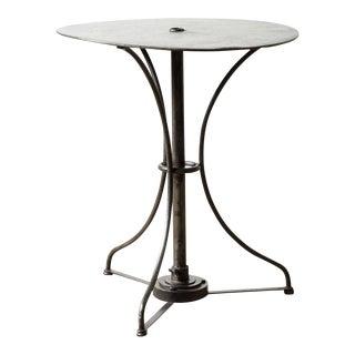 1900s Industrial Black Metal Side Table For Sale