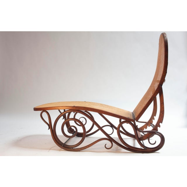 Art Nouveau Bentwood Chaise Lounge Barcelona For Sale - Image 3 of 5