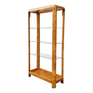 Mid-Century Burlwood Vintage Shelf