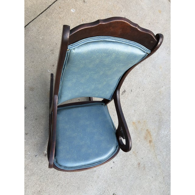 Farmhouse Mid 20th Century Classic Rocker Chair For Sale - Image 3 of 13