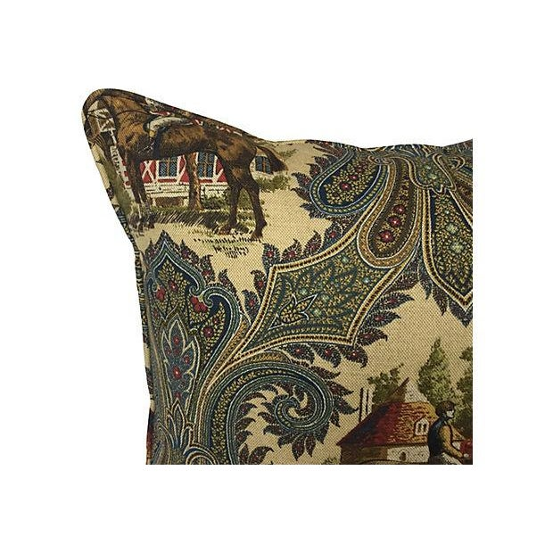 Country French Horse Jockey Pillows - Pair For Sale - Image 3 of 3