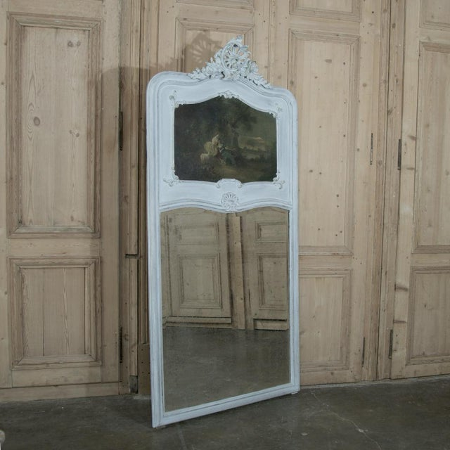 Early 19th Century 19th Century French Louis XV Painted Trumeau/Mirror For Sale - Image 5 of 8