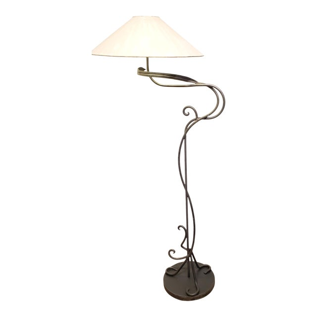 1960s Hand Wrought Iron Floor Lamp by Chapman Lighting For Sale
