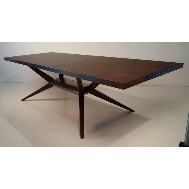 Mid-Century Modern Faceted Romweber Dining Table by Harold Schwartz For Sale - Image 3 of 8