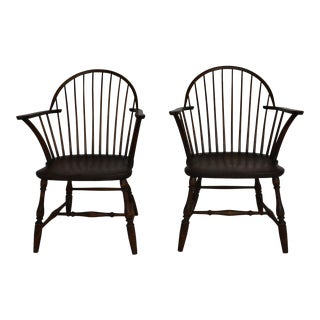 1950s Windsor Chairs - a Pair For Sale