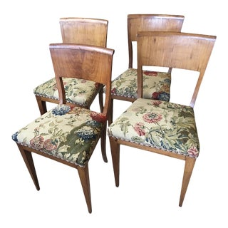 Biedermeier Birch Dining Side Chairs - Set of 4 For Sale