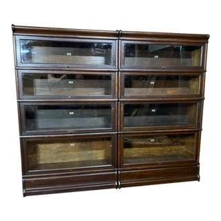 Antique 4 Stack Oak Barrister Bookcase For Sale