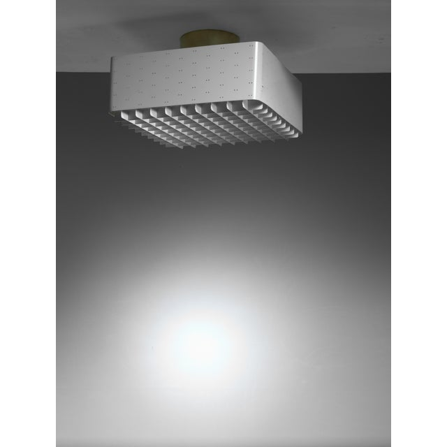 Mid-Century Modern Paavo Tynell Full White Model 9068 Flush Mount for Idman, Finland, 1950s For Sale - Image 3 of 3
