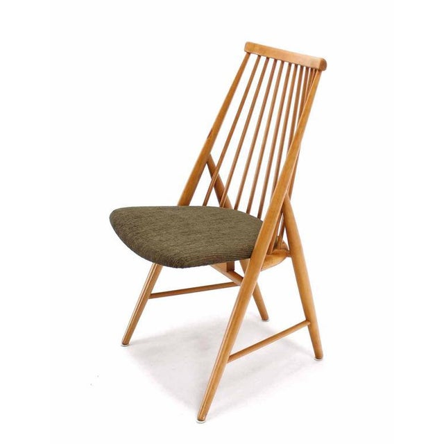 Birch Pair of Swedish Spindle Dowel Back Chairs For Sale - Image 7 of 10