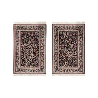 Pasargad Persian Isfahan Korker Wool & Silk Highlighted Rug - 4′10″ × 7′7″- a Pair For Sale