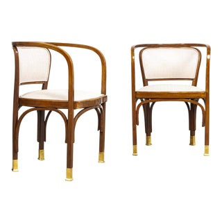 Antique Vienna Secessionist Gustav Siegel 715 for Kohn Chairs For Sale