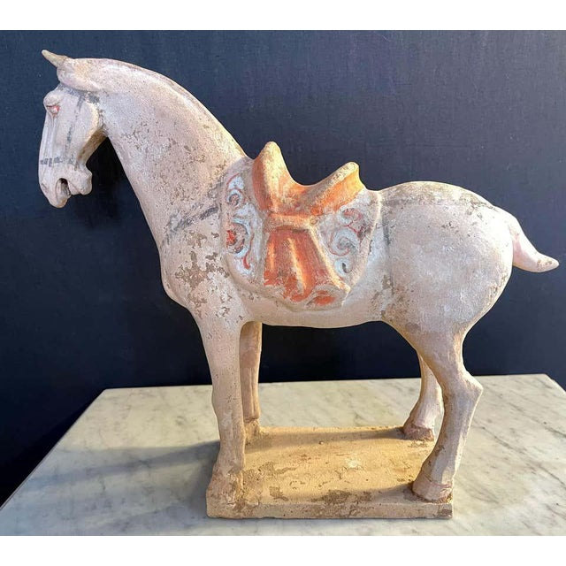 Antique Tang Pottery Horses - a Pair For Sale - Image 9 of 13
