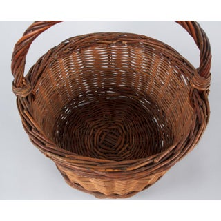 20th Century French Round Wicker Basket Preview