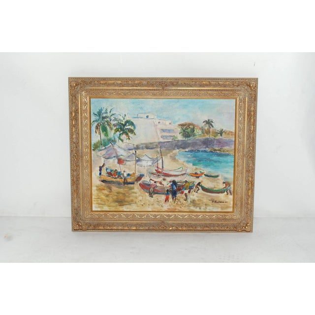 Mid-Century Modern Frances Beatrice Lieberman Painting For Sale - Image 3 of 8