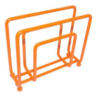 Mid-Century Modern Orange Metal Napkin Holder