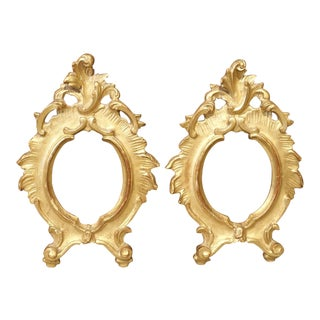 Pair of Small Antique Giltwood Frames From Italy, Early 19th Century For Sale
