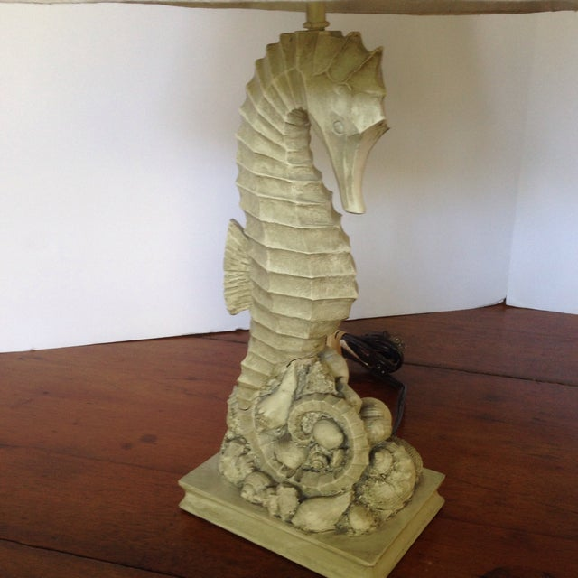 Vintage Seahorse/Seashell Table Lamp For Sale - Image 9 of 11