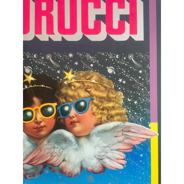 "Vintage 1980 Rare Fiorucci New Wave Italian Fashion Lithograph Print Poster ""Cherub Angels"" For Sale In New York - Image 6 of 11"