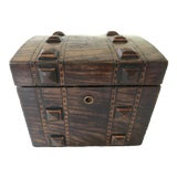 Image of Antique Wooden Tea Caddy For Sale