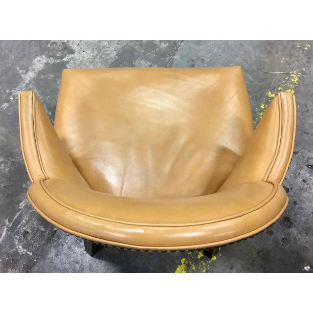 Custom Ordered Leather Nailhead Armchairs - Set of 6 - Image 8 of 11
