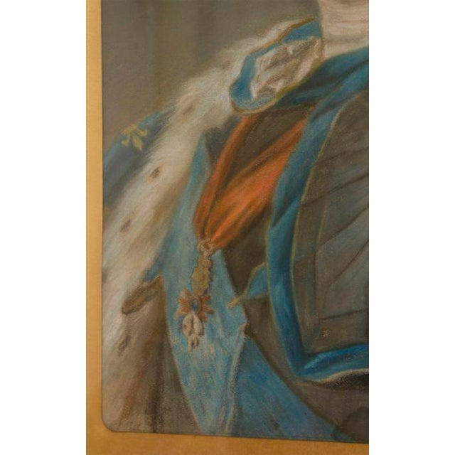 Louis XV Mid 18th Century Pastel Portrait Painting of Louis XV For Sale - Image 3 of 5