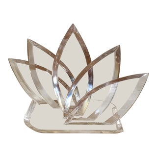 1970s Hivo Van Teal Acrylic Lotus Sculpture For Sale