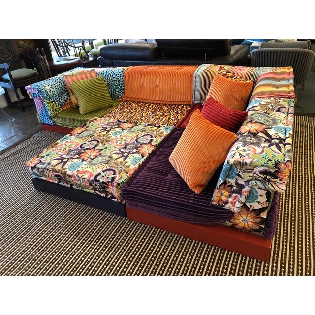 Fabric Missoni Mah Jong Sectional by Roche Bobois For Sale - Image 7 of 13