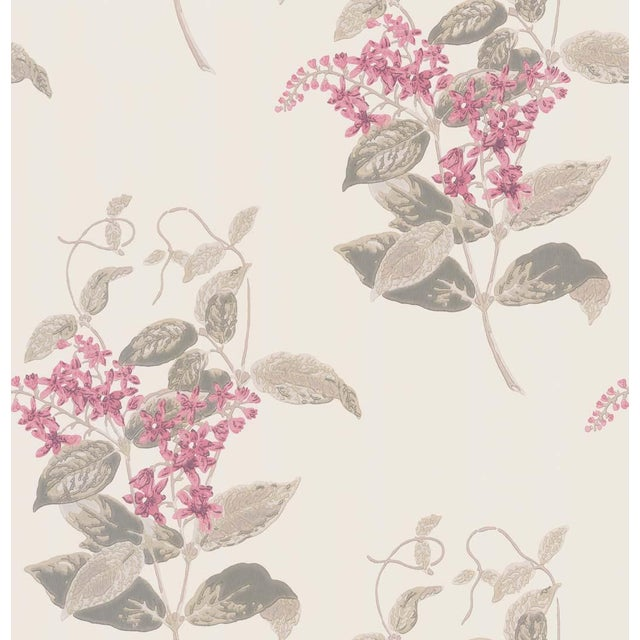 Cole & Son Madras Violet Classic Botanical Style Wallpaper Sample For Sale - Image 4 of 5