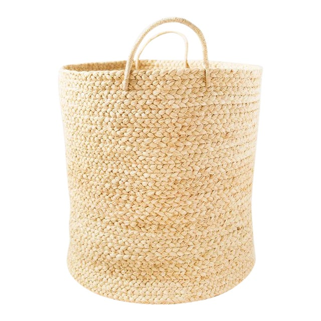 Indego Africa Large Handwoven Braided Raffia Basket For Sale